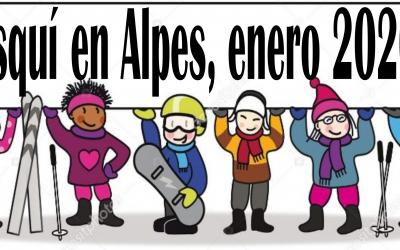 Esquí en Alpes, enero 2020